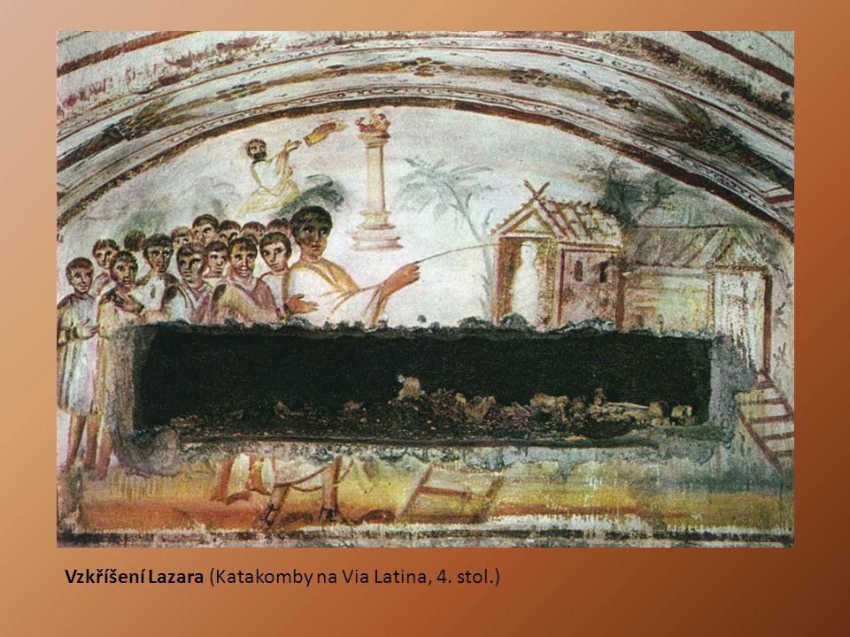 Vzkříšení Lazara (Katakomby na Via Latina, 4. stol.)