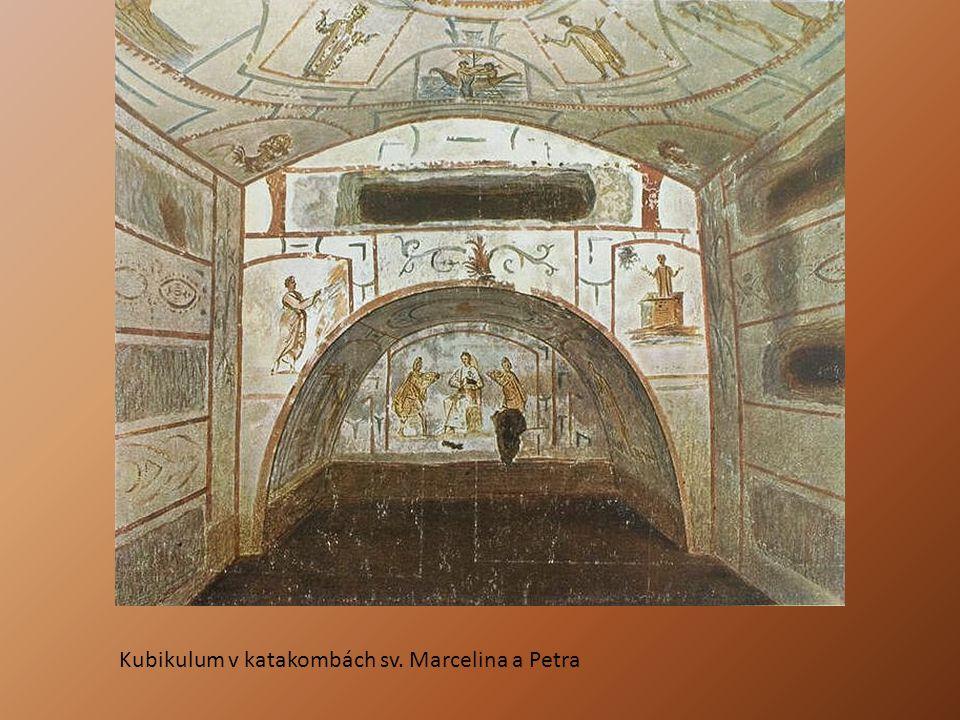 Kubikulum v katakombách sv. Marcelina a Petra