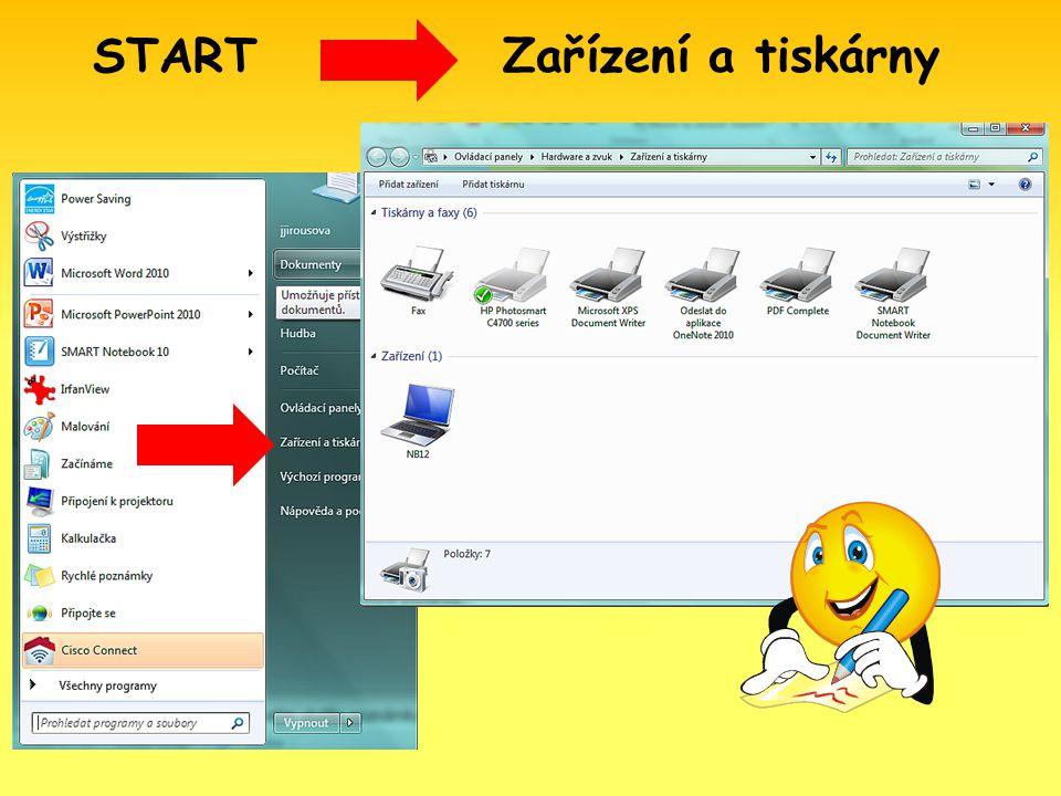 Zařízení a tiskárny START