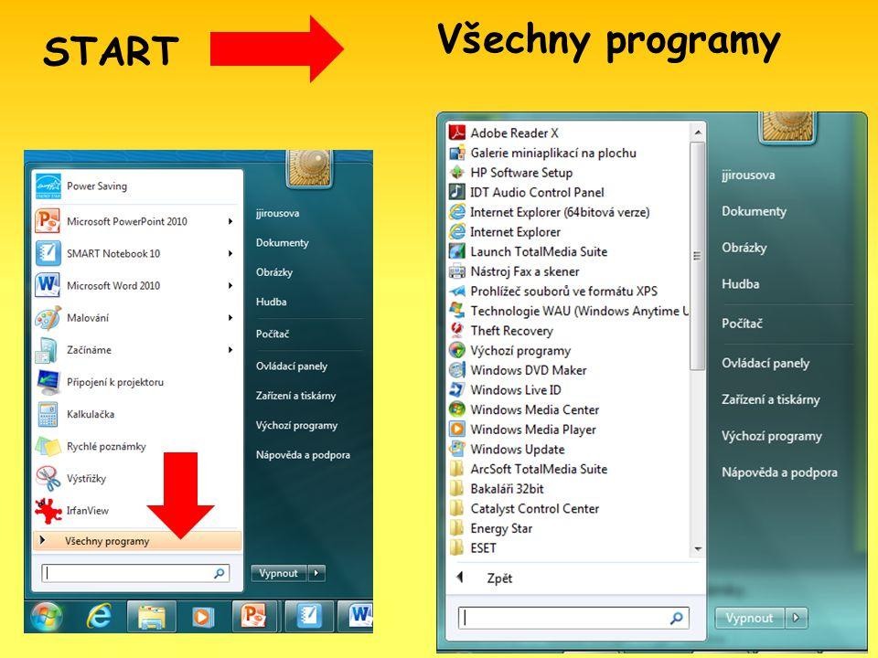 START Všechny programy