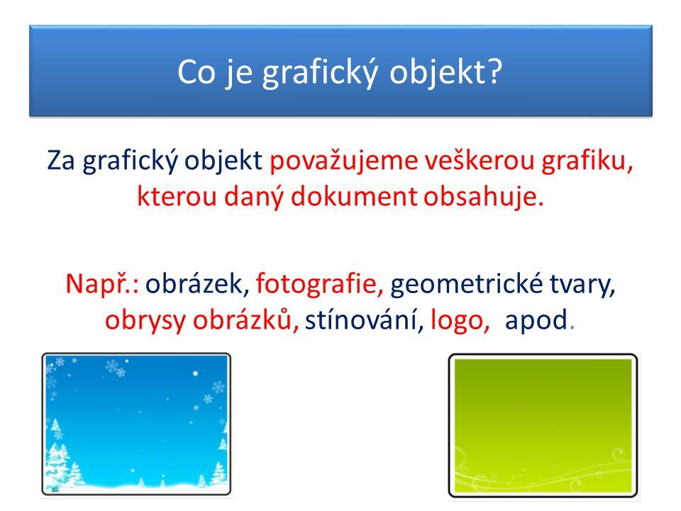 Co je grafický objekt.