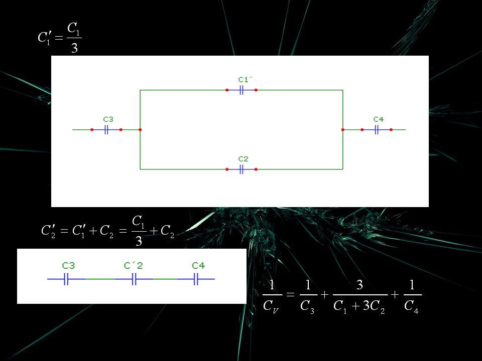 Jaké napětí vznikne na jednotlivých kondenzátorech po přiložení napětí.