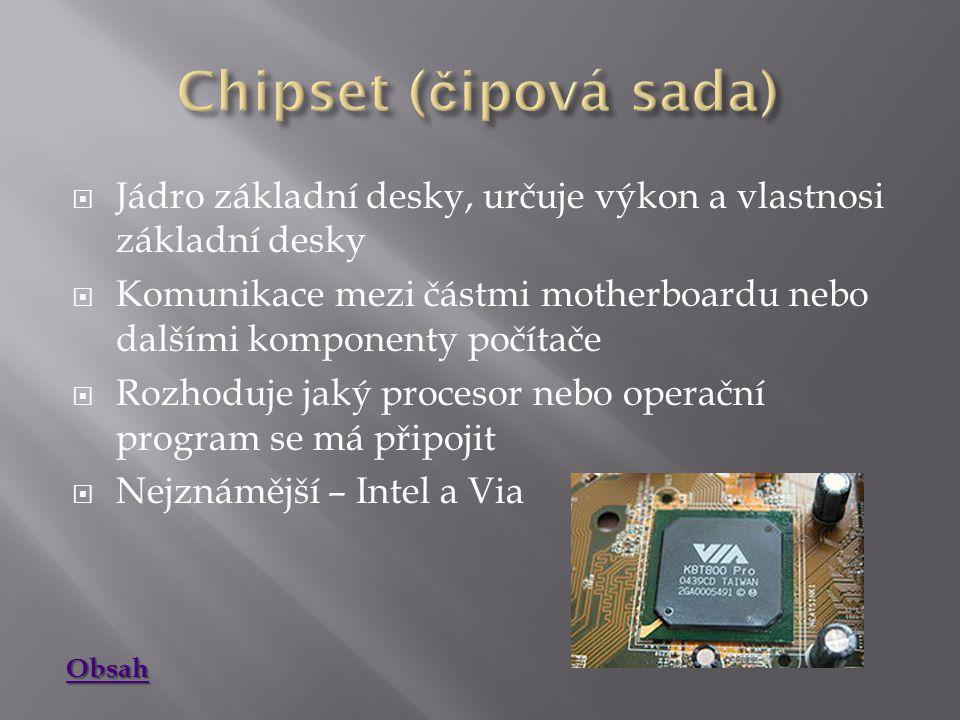  Umožňují v počítači připojit zařízení  Typy:  Isa-Dnes nepoužívaná, dříve k propojení grafických a zvukových karet a dalších  Eisa-Dnes nepoužívaná, rozšíření pro Isa  Vesa-Dnes nepoužívaná, pro grafické karty  Pci-Dříve běžně používaný-dnes nestačí požadavkům graf.