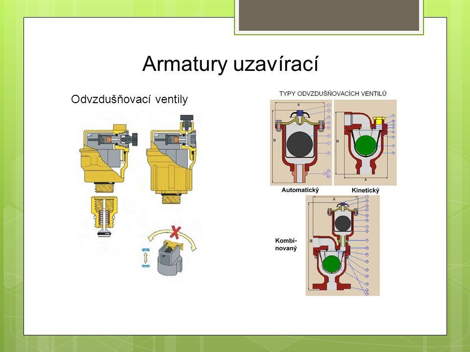 Armatury uzavírací Odvzdušňovací ventily