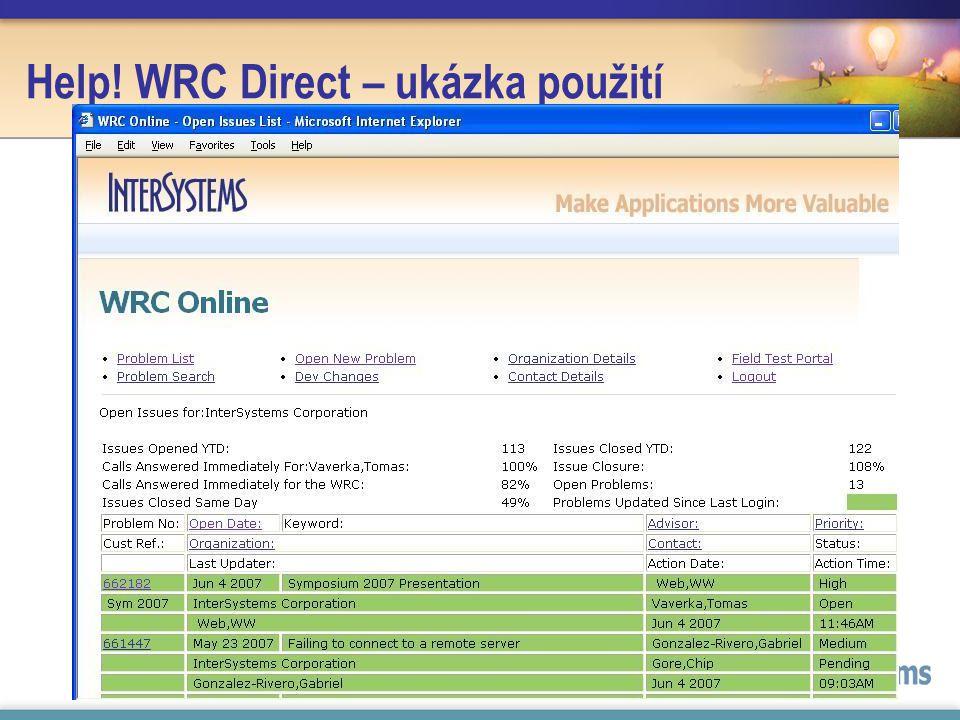 Help! WRC Direct – ukázka použití