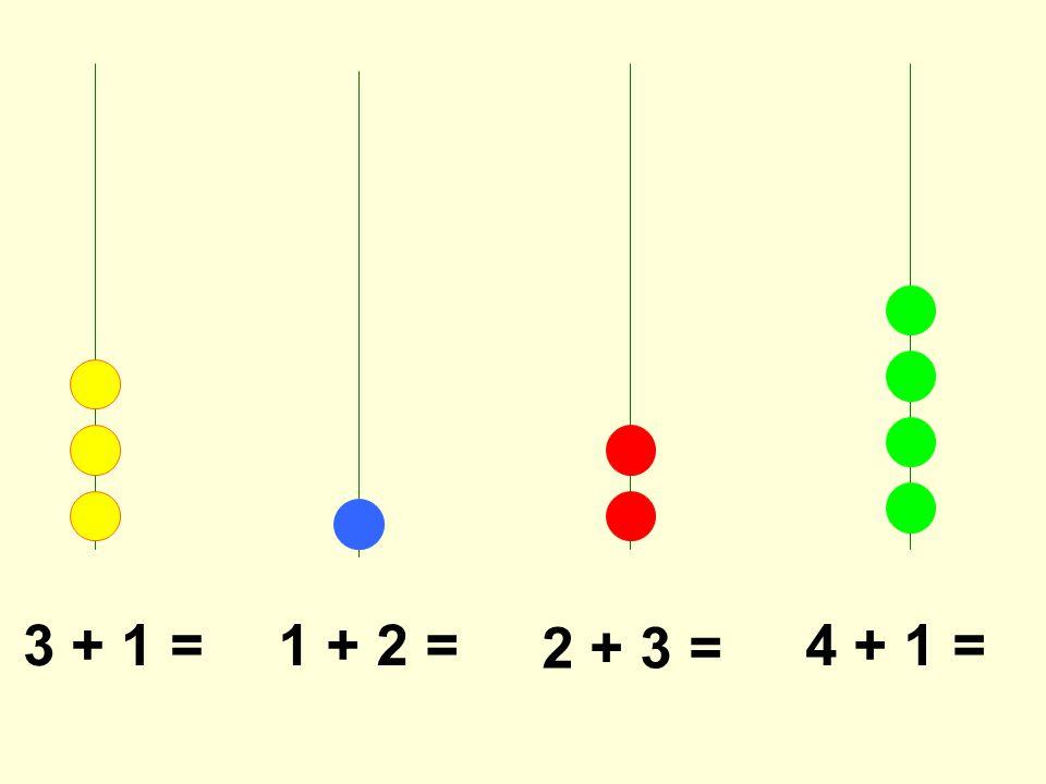 3 + 1 =1 + 2 = 2 + 3 = 4 + 1 =