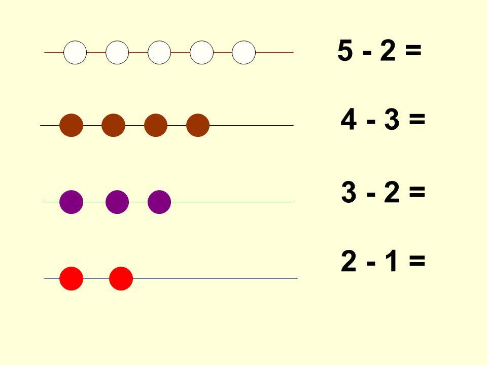 5 - 2 = 4 - 3 = 3 - 2 = 2 - 1 =