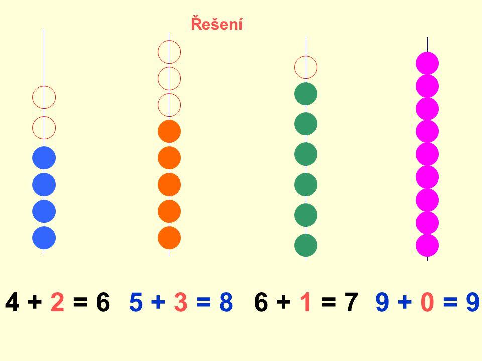 4 + 2 = 65 + 3 = 86 + 1 = 79 + 0 = 9 Řešení