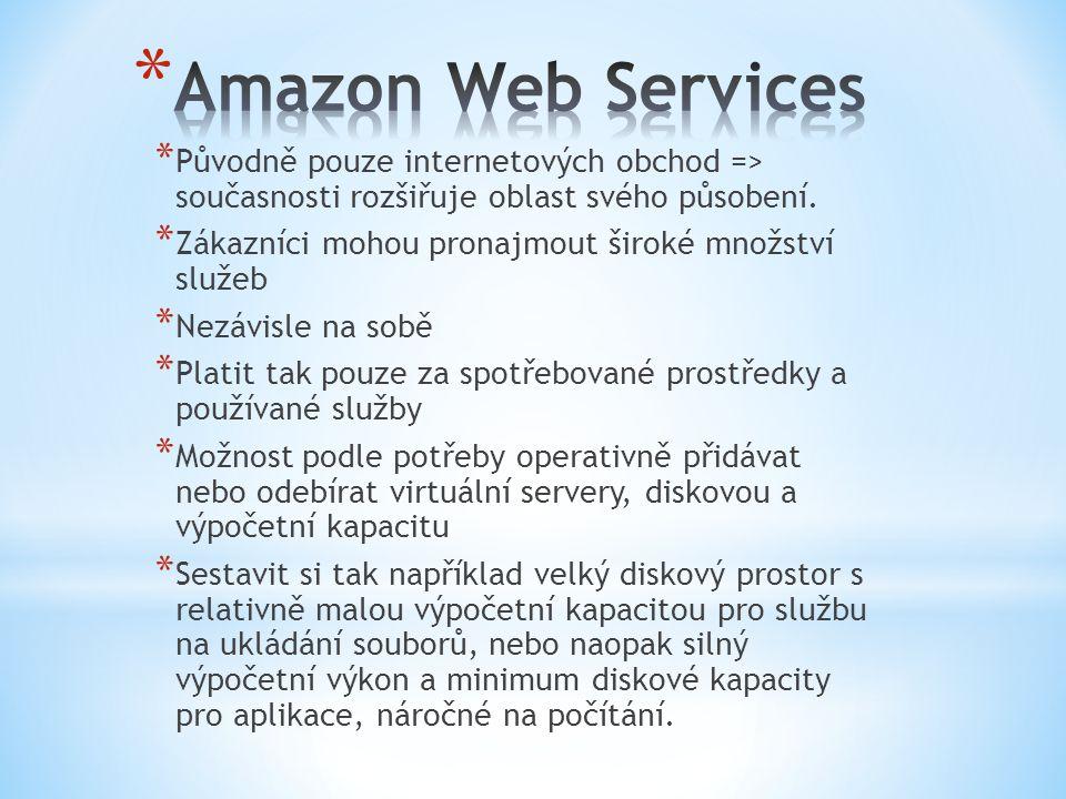 * Původně pouze internetových obchod => současnosti rozšiřuje oblast svého působení. * Zákazníci mohou pronajmout široké množství služeb * Nezávisle n