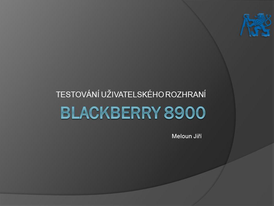 Obsah  O BlackBerry 8900  Cílová skupina  Testované případy  Nálezy  Shrnutí  Prostor pro dotazy A7B39TUR 2011/2012 Testování BlackBerry 8900, Meloun Jiří2