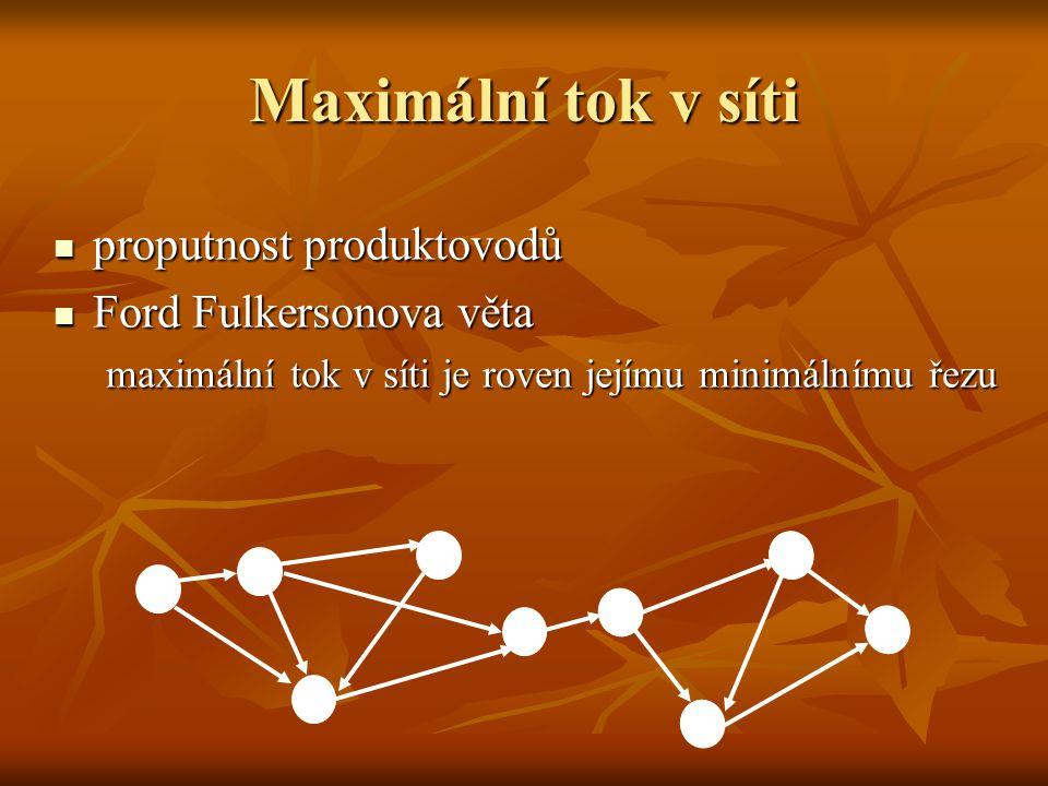 Příklad Jaké maximální množství plynu lze pustit do následující sítě.