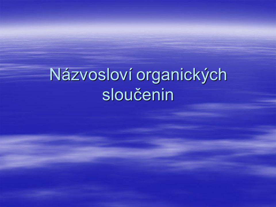 Názvosloví organických sloučenin