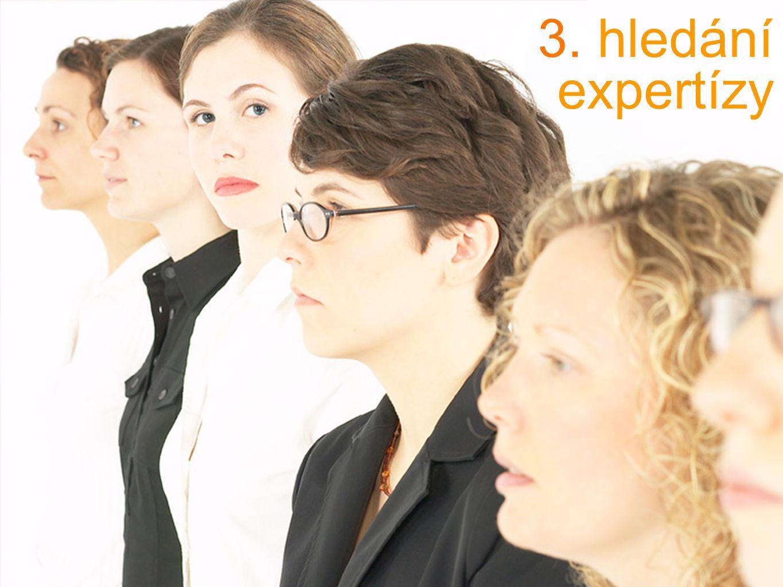 3. hledání expertízy