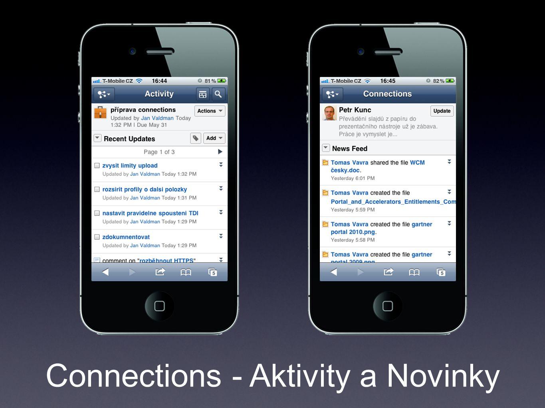 Connections - Aktivity a Novinky