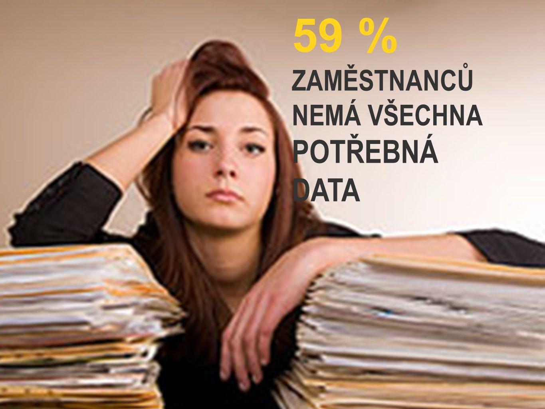 59 % ZAMĚSTNANCŮ NEMÁ VŠECHNA POTŘEBNÁ DATA