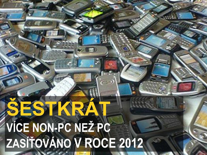 ŠESTKRÁT VÍCE NON-PC NEŽ PC ZASÍŤOVÁNO V ROCE 2012