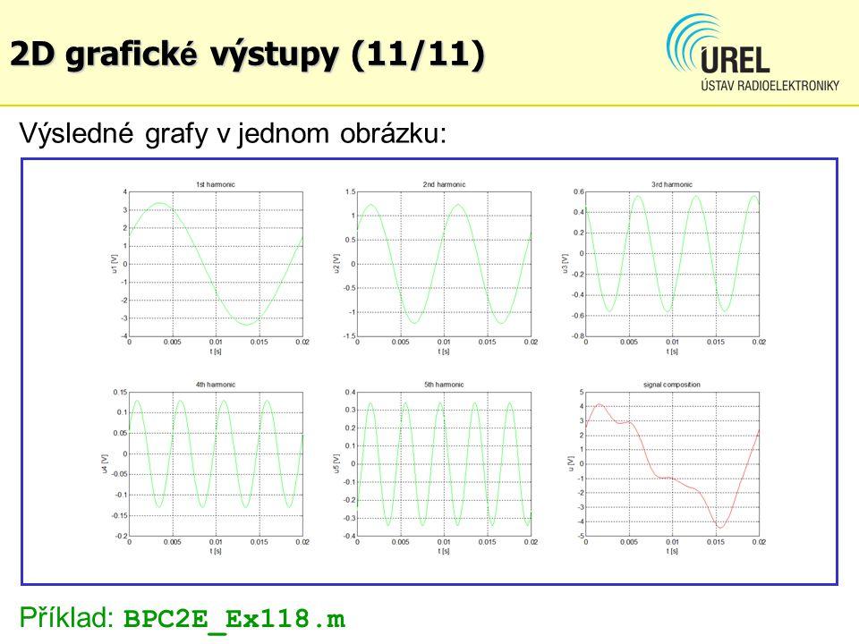 2D grafick é výstupy (11/11) Výsledné grafy v jednom obrázku: Příklad: BPC2E_Ex118.m