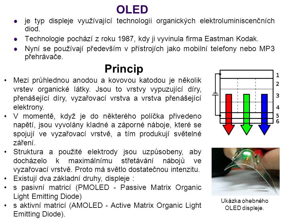 OLED je typ displeje využívající technologii organických elektroluminiscenčních diod. Technologie pochází z roku 1987, kdy ji vyvinula firma Eastman K