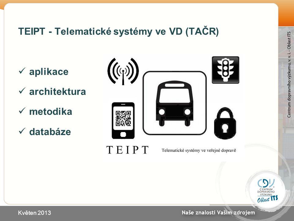 TEIPT - Telematické systémy ve VD (TAČR) aplikace architektura metodika databáze Květen 2013