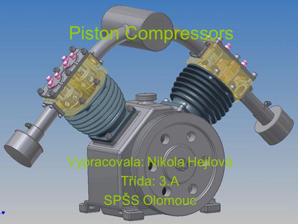 Piston Compressors Vypracovala: Nikola Hejlová Třída: 3.A SPŠS Olomouc