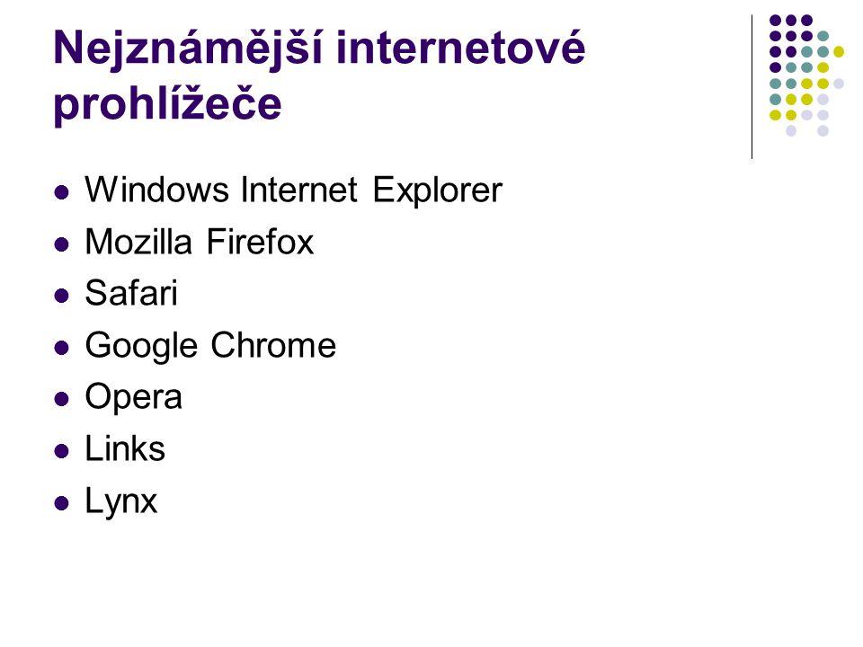 Windows Internet Explorer je to aplikace vyvíjená firmou Microsoft.