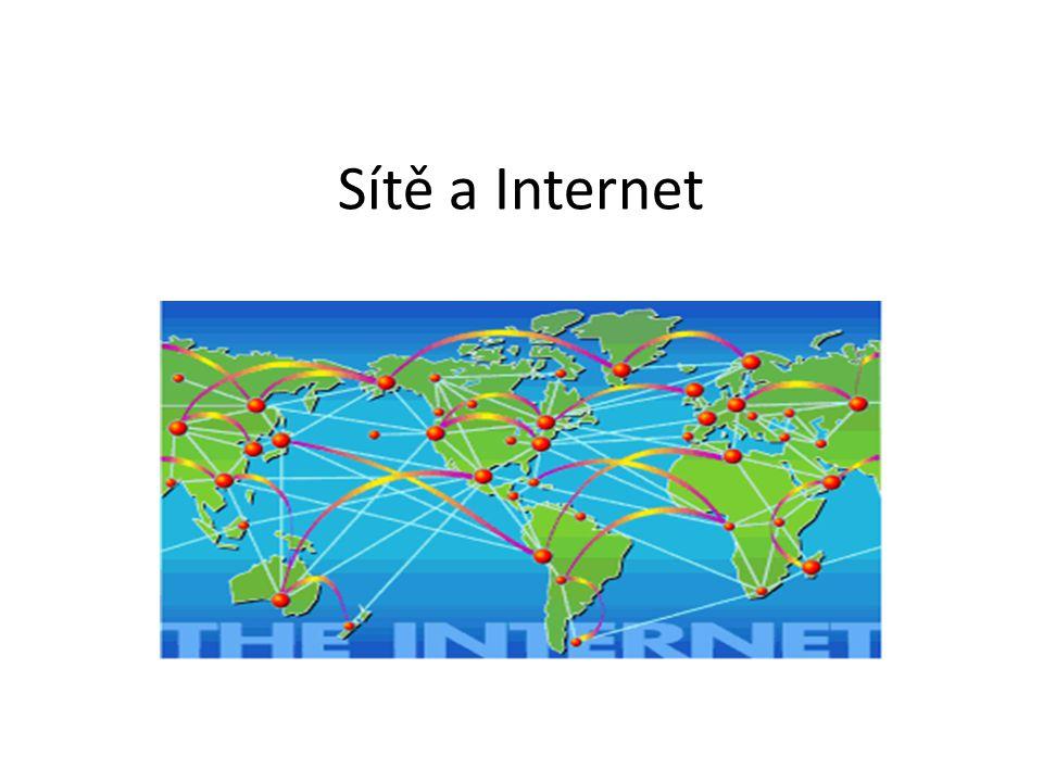 Webový klient a server V roce 1993 vznikl první grafický prohlížeč Mosaic V současnosti pestrá nabídka webových prohlížečů Nejpopulárnější webové prohlížeče – Mozilla Firefox – Opera – Safari – Internet Explorer Nejznámější webové servery – Apache – pro operační systémy třídy Unix – Internet Information Server – pro Windows – Lotus Domino – komerční, pro platformy IBM – Nestcape Enterprise, Fast Track – komerční – Netware – komerční systém firmy Novell