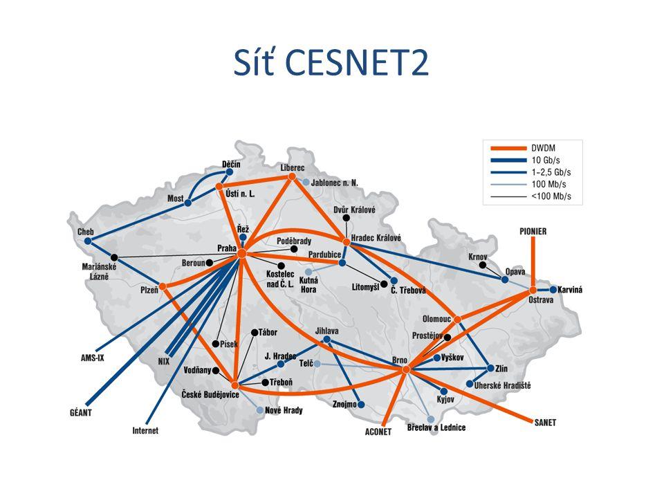 Zátěž na síti CESNET2