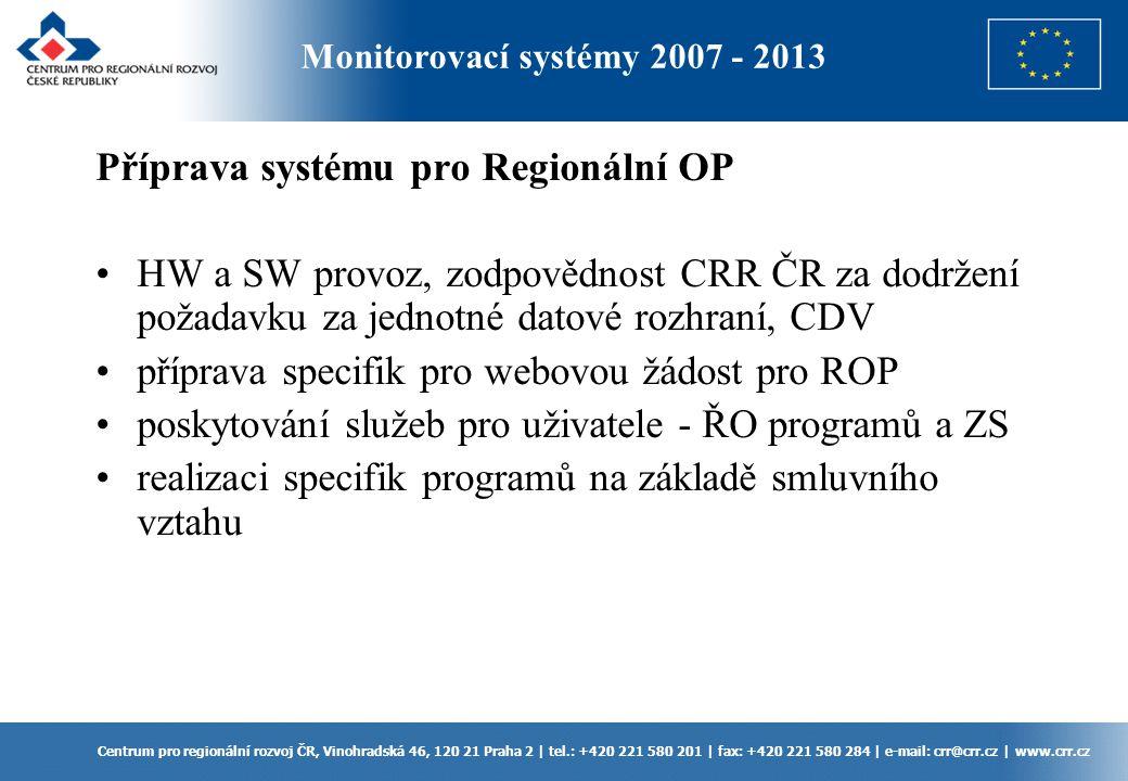 Centrum pro regionální rozvoj ČR, Vinohradská 46, 120 21 Praha 2 | tel.: +420 221 580 201 | fax: +420 221 580 284 | e-mail: crr@crr.cz | www.crr.cz Př