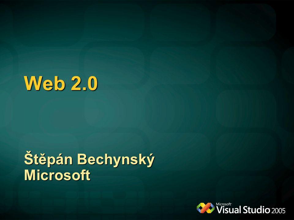 Web 2.0 Štěpán Bechynský Microsoft