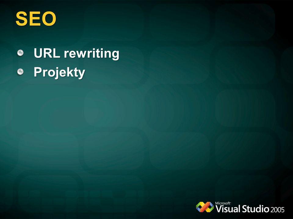 SEO URL rewriting Projekty
