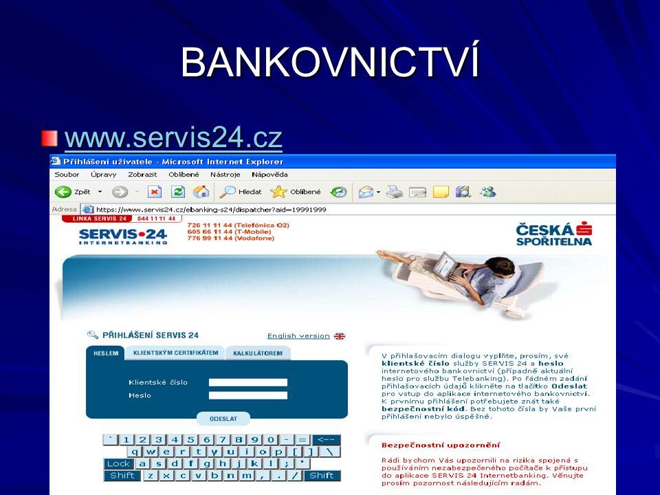 BANKOVNICTVÍ www.servis24.cz