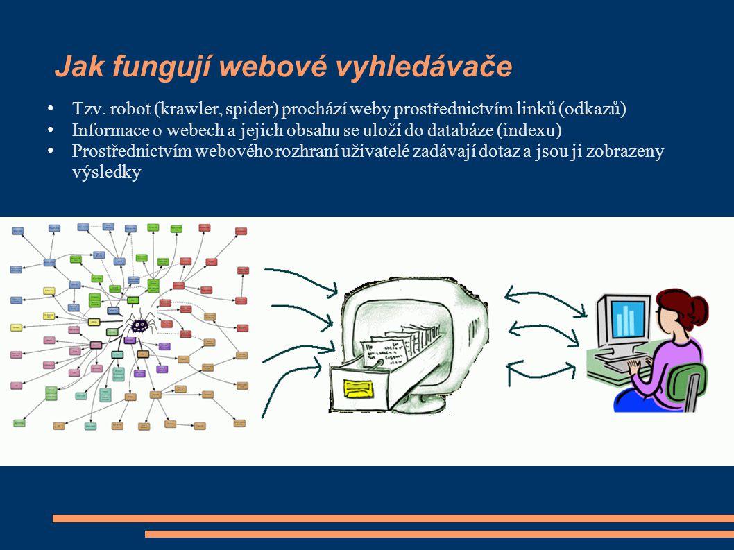Jak fungují webové vyhledávače Tzv.