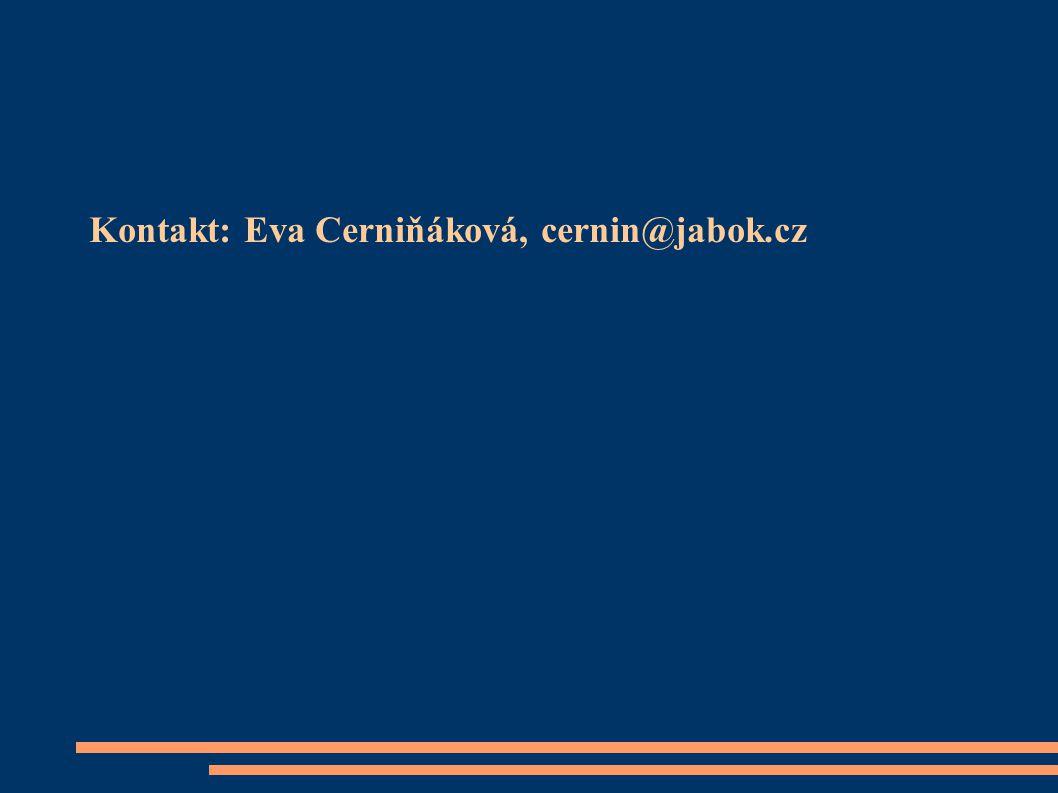 Kontakt: Eva Cerniňáková, cernin@jabok.cz