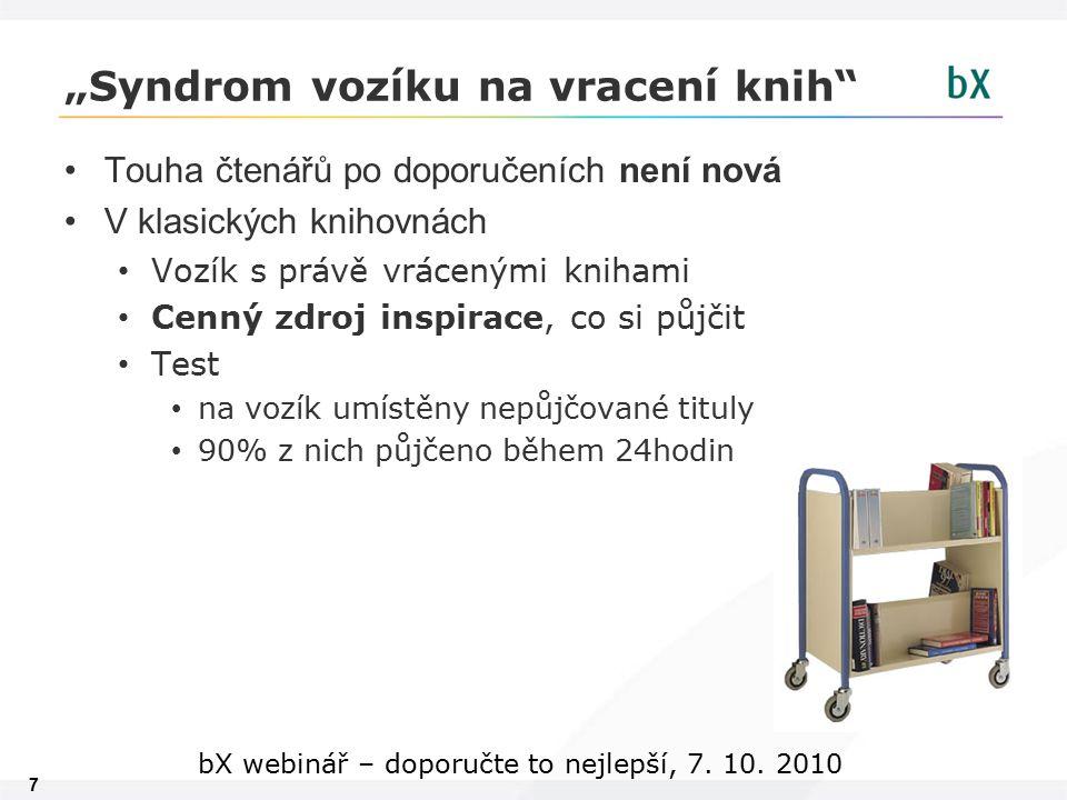 28 bX webinář – doporučte to nejlepší, 7. 10. 2010 Děkuji za pozornost. lukas.budinsky@multidata.cz