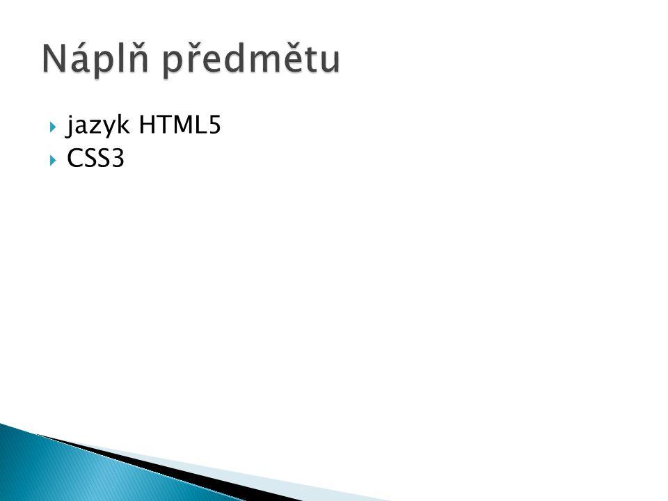  jazyk HTML5  CSS3