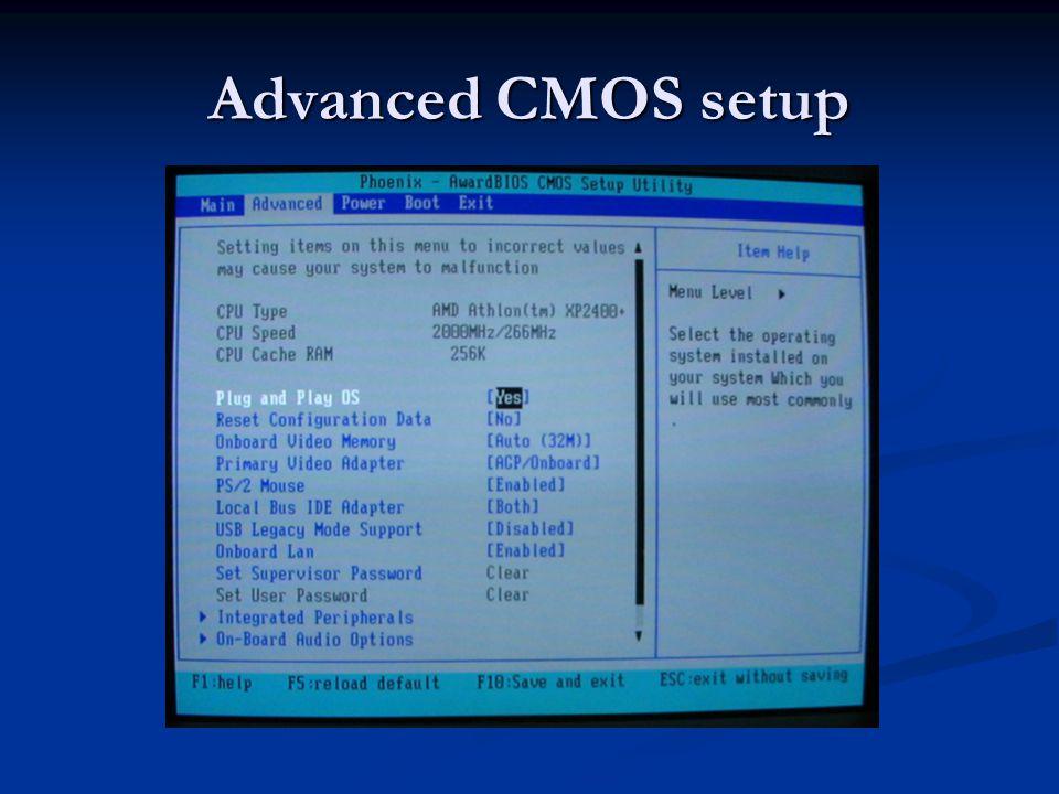 Advanced CMOS setup