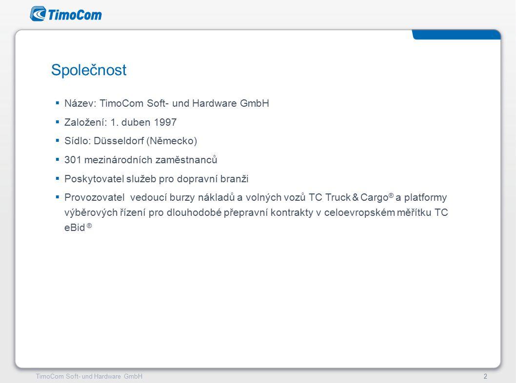 TimoCom – le futur du transport !13TimoCom Soft- und Hardware GmbH13 Náš registr dopravních kontaktů s ověřenou kvalitou pro Evropu!