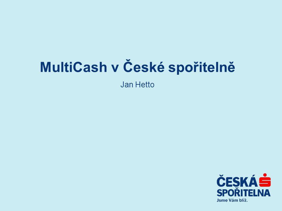 MultiCash v České spořitelně Jan Hetto