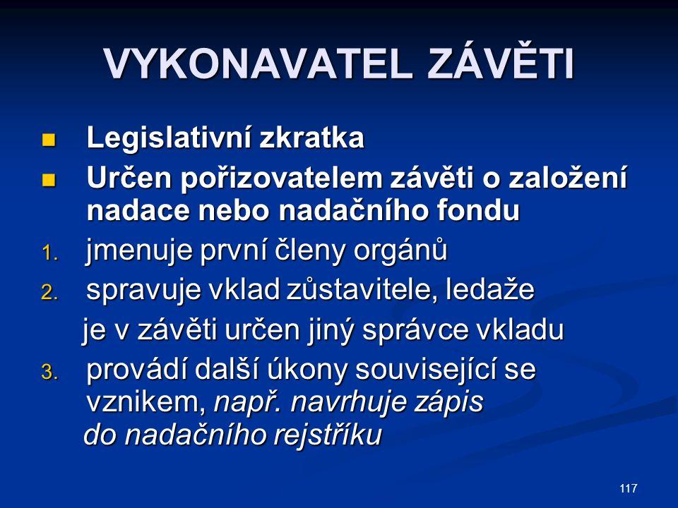 118 EXKURS: CIVILNĚ PROCESNÍ NÁSTUPNICTVÍ Civilní řízení (o.