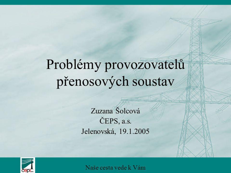 Problémy provozovatelů přenosových soustav Zuzana Šolcová ČEPS, a.s.