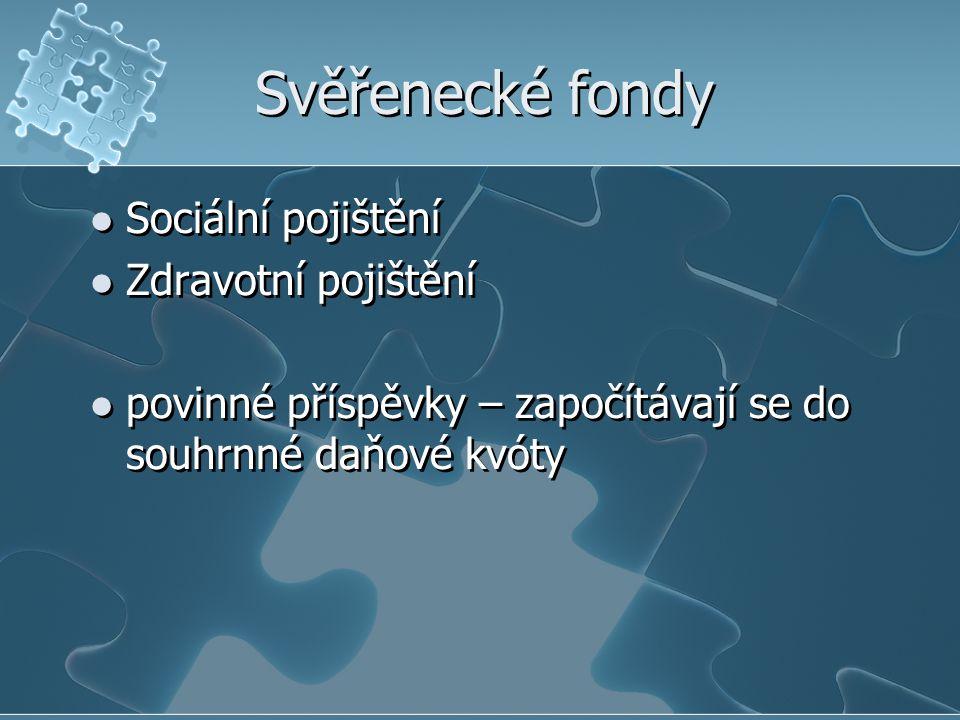 Sazby pojistného v ČR u organizace a malé organizace 26 % 3,3 % na nemocenské pojištění, 21,5 % na důchodové pojištění a 1,2 % na státní politiku zaměstnanosti, u zaměstnanců 8 % 1,1 % na nemocenské pojištění, 6,5 % na důchodové pojištění a 0,4 % na státní politiku zaměstnanosti u osob samostatně výdělečně činných 29,6 % 28 % na důchodové pojištění a 1,6 % na státní politiku zaměstnanosti + 4,4 % na nemocenské pojištění u osob dobrovolně účastných důchodového pojištění (např.