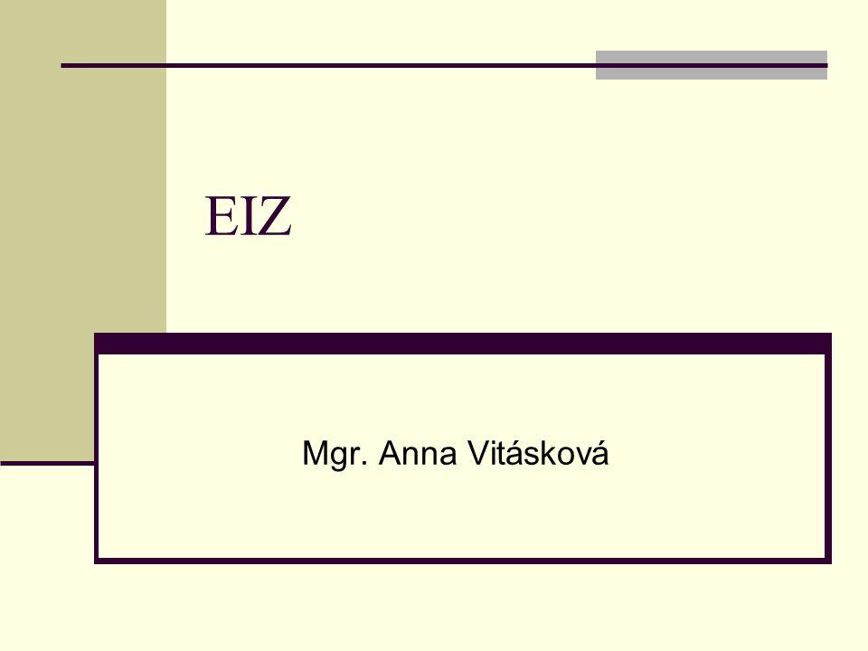 EIZ Mgr. Anna Vitásková