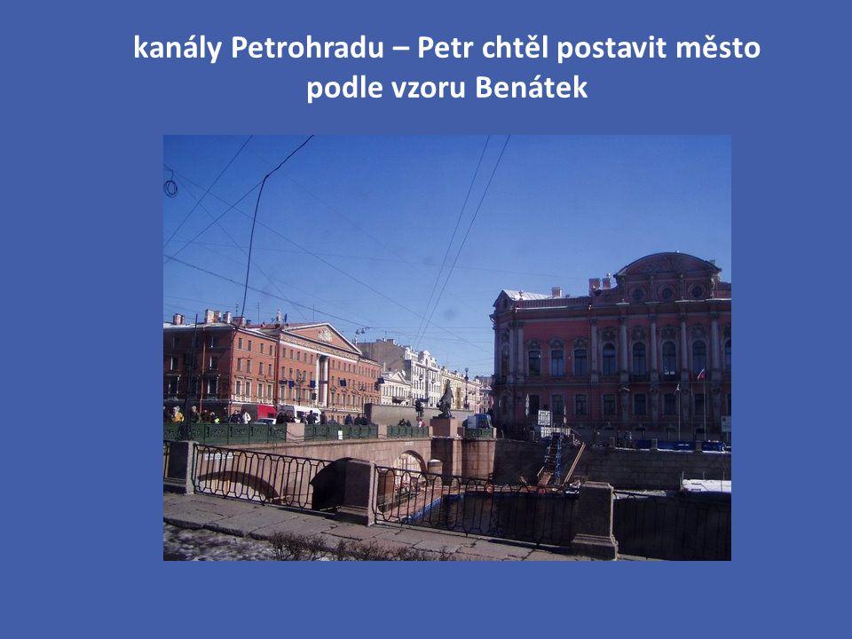 kanály Petrohradu – Petr chtěl postavit město podle vzoru Benátek