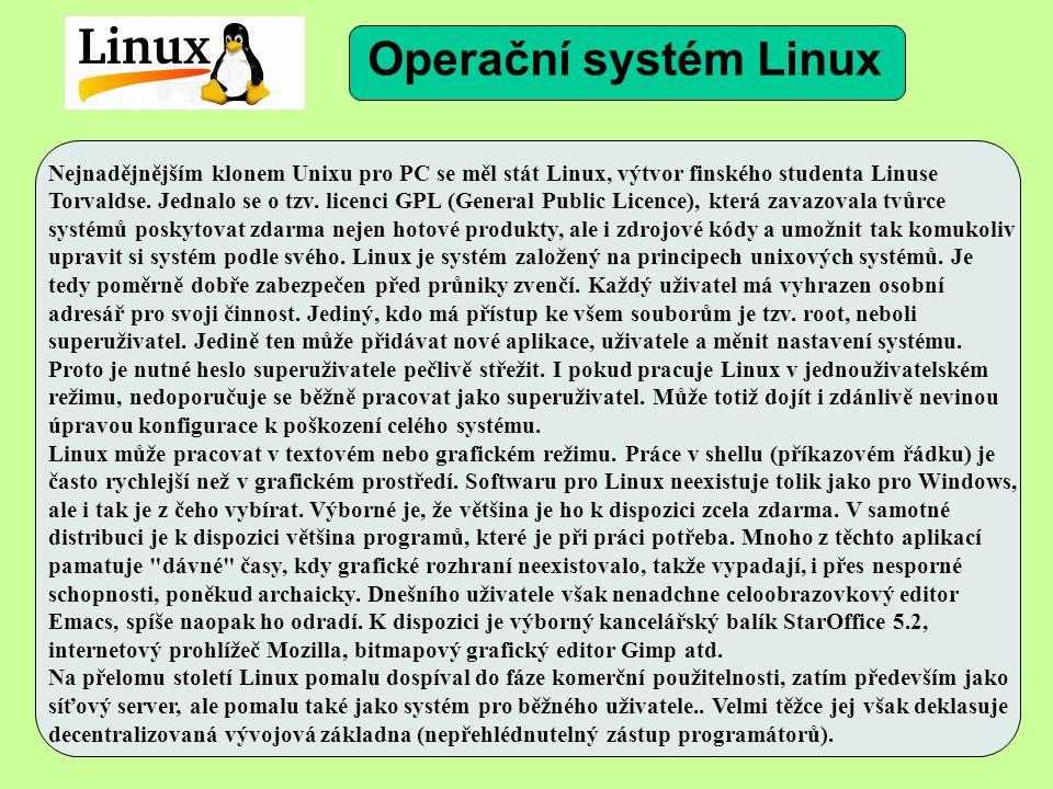 Nejnadějnějším klonem Unixu pro PC se měl stát Linux, výtvor finského studenta Linuse Torvaldse.