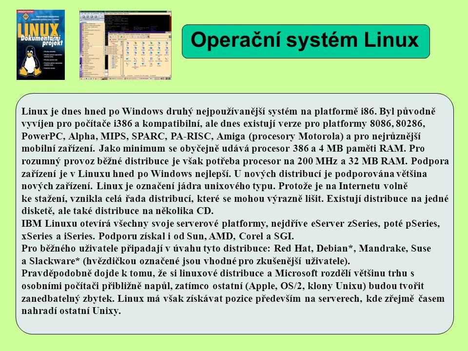 Linux je dnes hned po Windows druhý nejpoužívanější systém na platformě i86.
