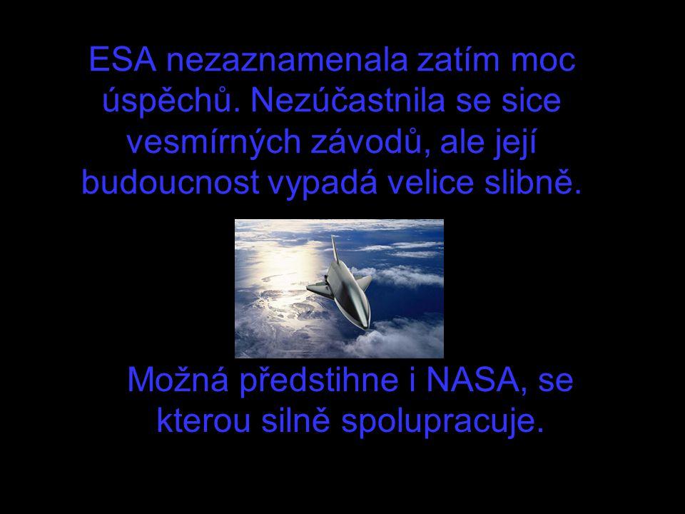 ESA nezaznamenala zatím moc úspěchů. Nezúčastnila se sice vesmírných závodů, ale její budoucnost vypadá velice slibně. Možná předstihne i NASA, se kte