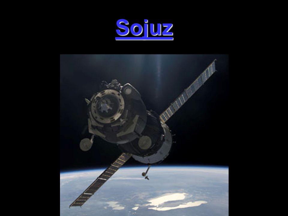 Sojuz je ruská zásobovací loď.Dopravuje potraviny a posádku do vesmírných stanic(ISS).