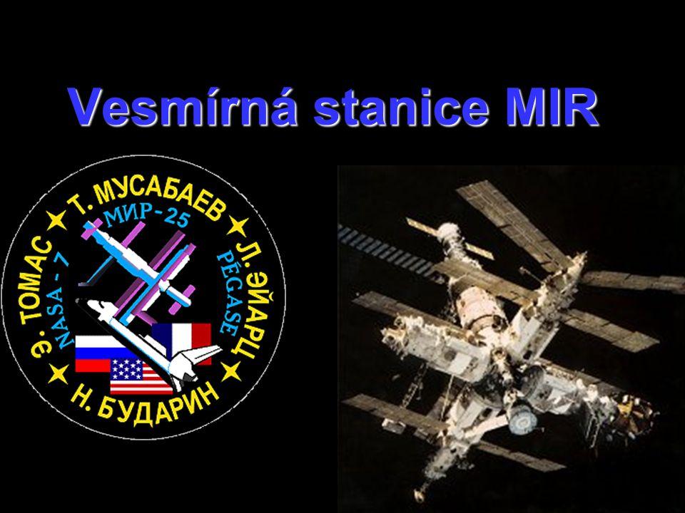 Stanice MIR sloužila od r.1986 celých 15 let vědě a pozorování Země.