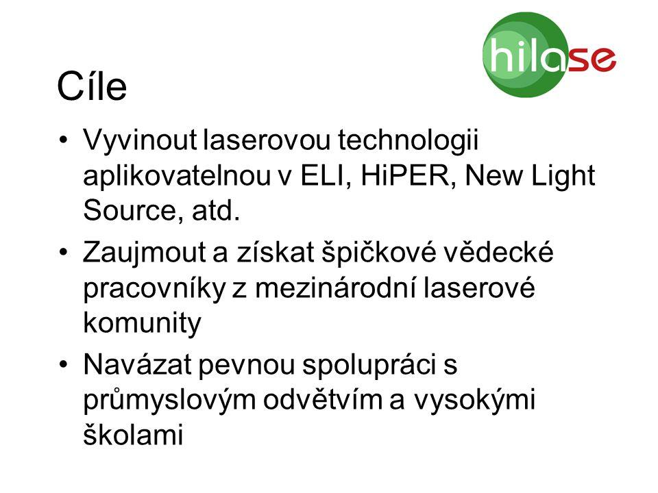 Cíle Vyvinout laserovou technologii aplikovatelnou v ELI, HiPER, New Light Source, atd. Zaujmout a získat špičkové vědecké pracovníky z mezinárodní la