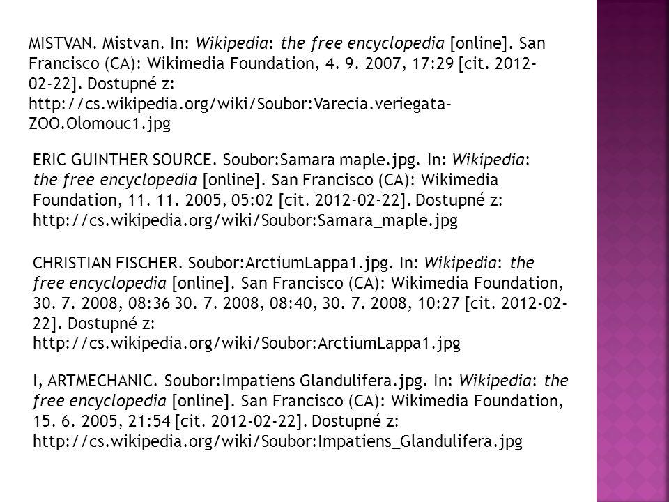 MISTVAN.Mistvan. In: Wikipedia: the free encyclopedia [online].